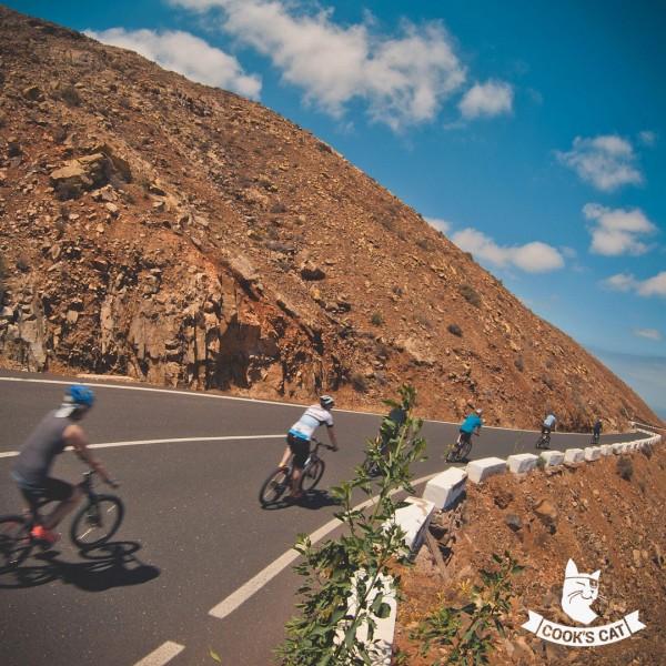 20 Km bergab Mountainbike Tour zu den Höhlen von Ajuy